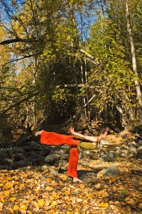 Virabhadrasana III - the peaceful warrior flies